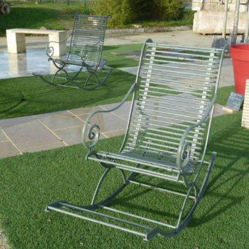 rocking chair en fer forge