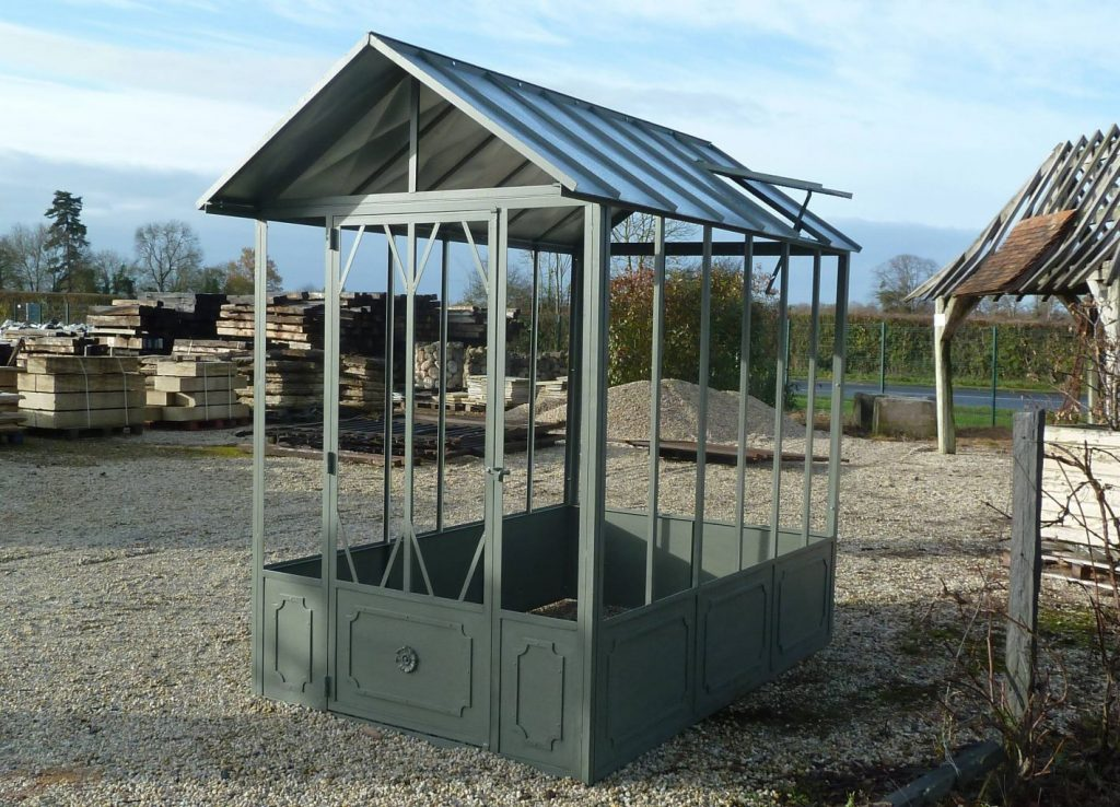 serre de jardin l 39 ancienne fer forg bca mat riaux anciens. Black Bedroom Furniture Sets. Home Design Ideas