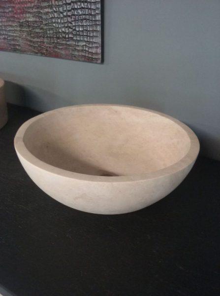 vasque en pierre naturelle travertin beige