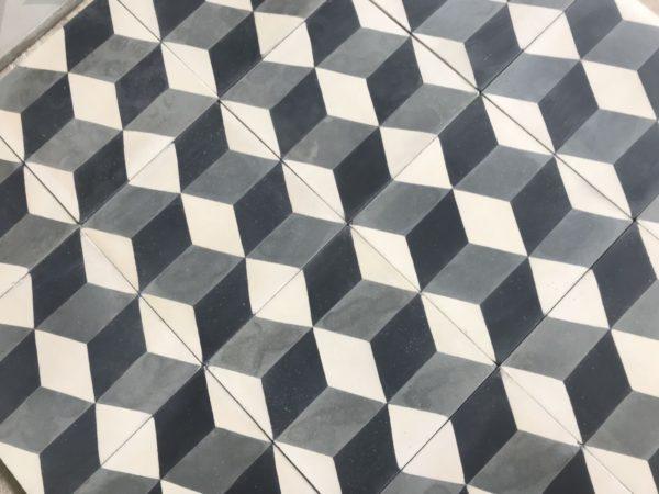 carreaux ciment cube 3d noir et blanc