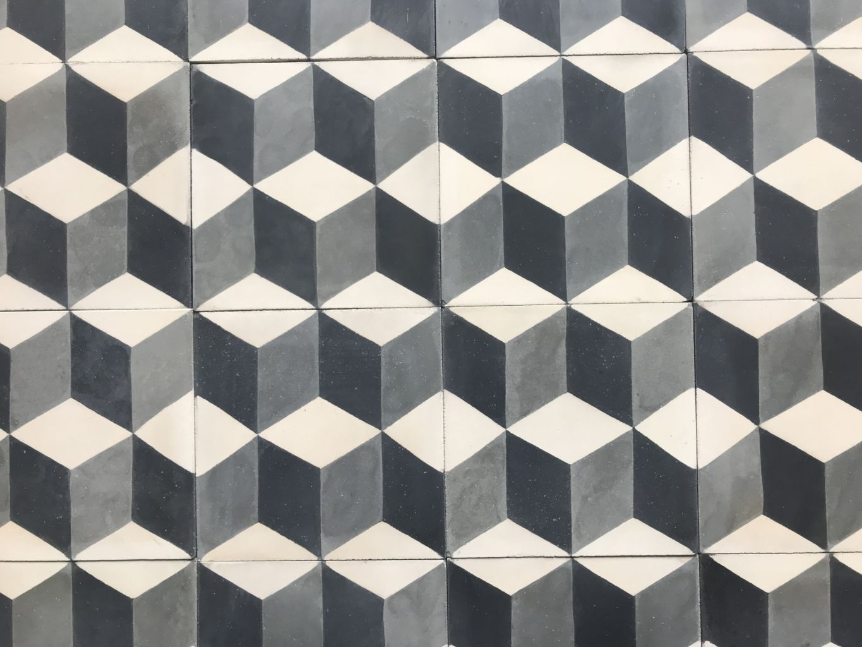 carreaux ciment cube 3d - format 20 x 20 cm | bca matériaux anciens