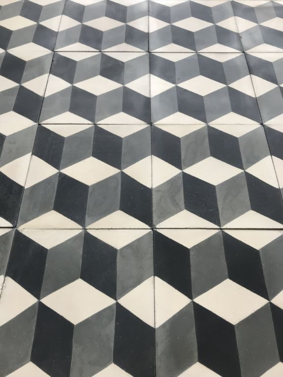 carreaux ciment noir et blanc interesting carrelage aspect carreau ciment x dcor et frise. Black Bedroom Furniture Sets. Home Design Ideas