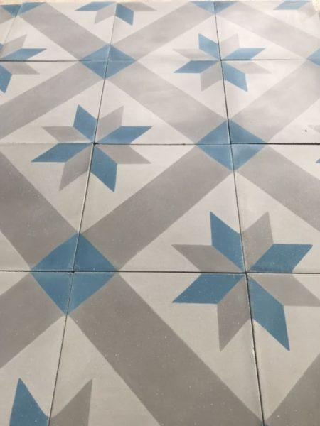 carreaux ciment vieilli étoile