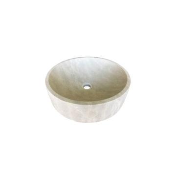 vasque ronde en pierre naturelle au style moderne