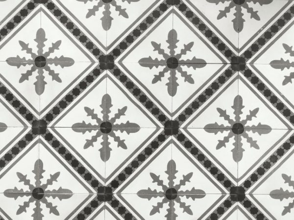 carreaux de ciments style ancien motif flocon