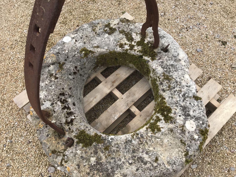 margelle de puits en pierre ancienne diam tre 100 cm bca mat riaux. Black Bedroom Furniture Sets. Home Design Ideas