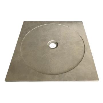 receveur de douche en pierre naturelle gris possible sur. Black Bedroom Furniture Sets. Home Design Ideas