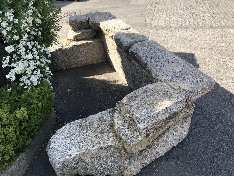 chemin e ancienne en granit largeur 270 cm bca mat riaux anciens. Black Bedroom Furniture Sets. Home Design Ideas