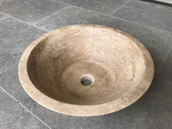 vasque en pierre naturelle de travertin