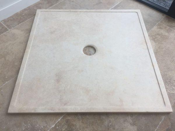 receveur de douche en pierre naturelle travertin