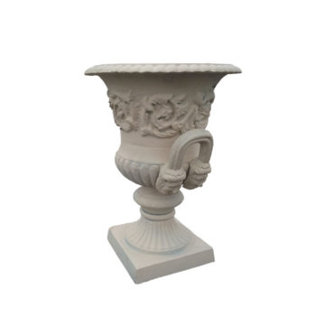vase medicis en fonte blanc