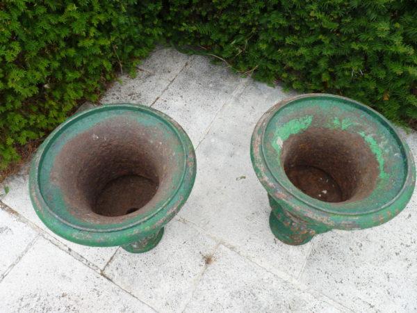 Paire vase Medicis ancien en fonte