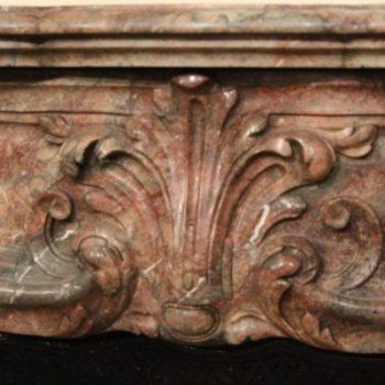 linteau de cheminée ancienne en marbre