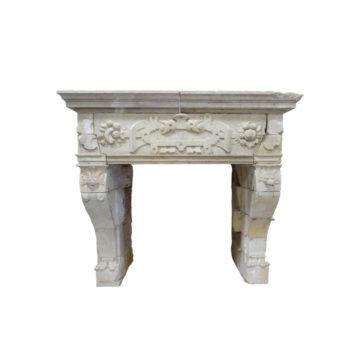 cheminée ancienne en pierre style renaissance