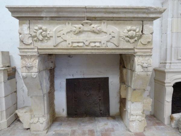 cheminée ancienne style renaissance