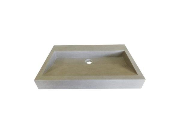Vasque en pierre naturelle prismatique mera gris