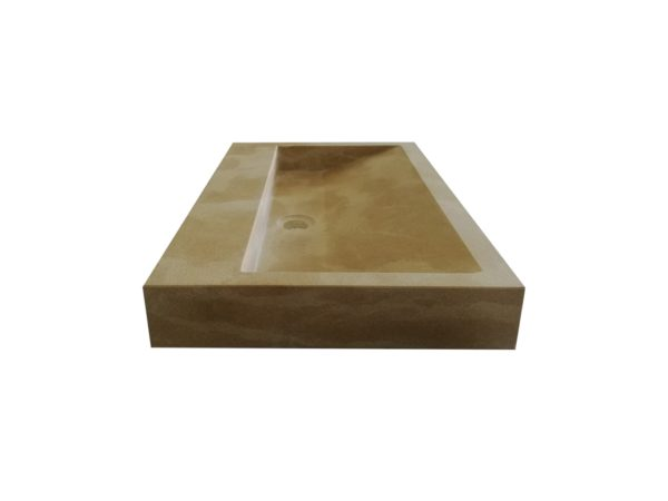 Vasque pierre naturelle beige