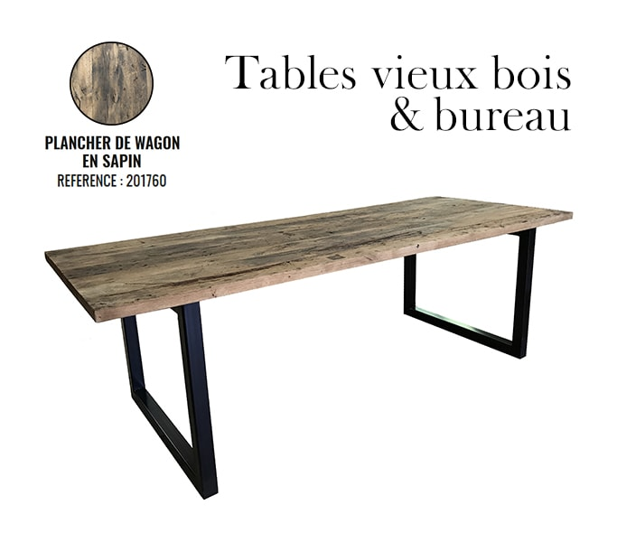Table de recuperation en bois wagon