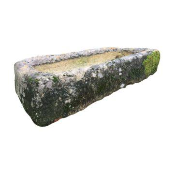 bac ancien pour jardin en pierre de récupération