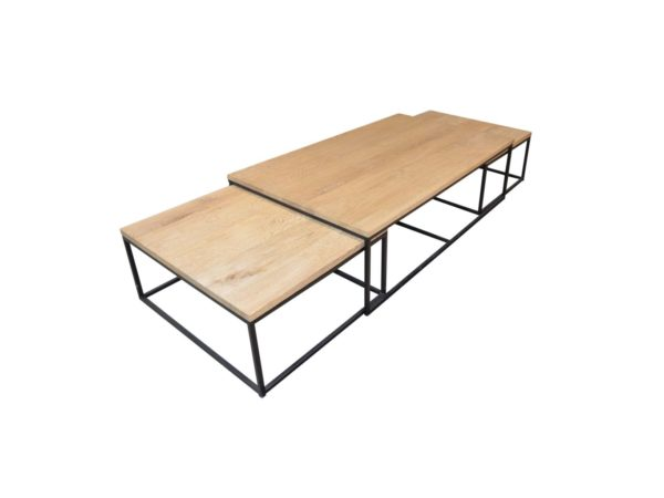 table chene bois salon