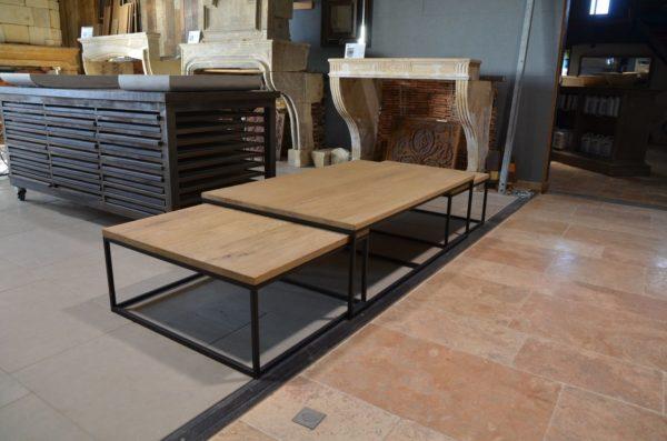 table bois chene basse pour salon