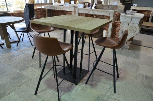 table bois et metal style industriel