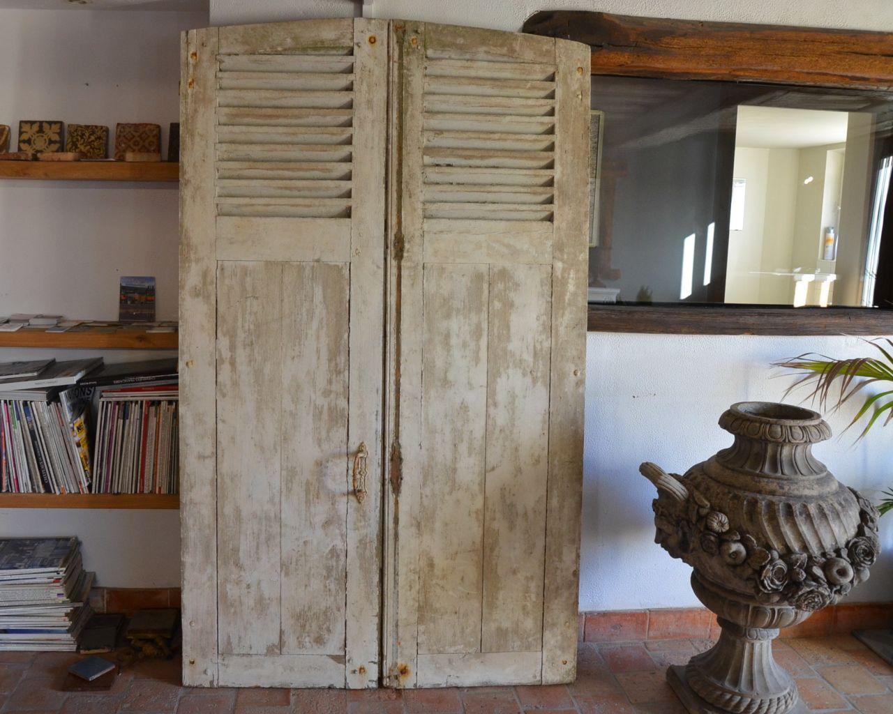 volet persienne en bois de r cup ration bca mat riaux. Black Bedroom Furniture Sets. Home Design Ideas