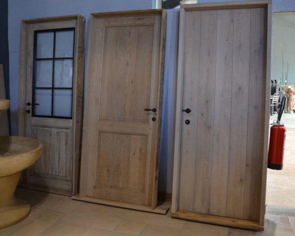 Porte en bois chêne pour intérieur