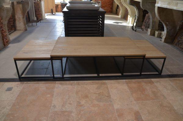 table trois parties design pour salle à manger