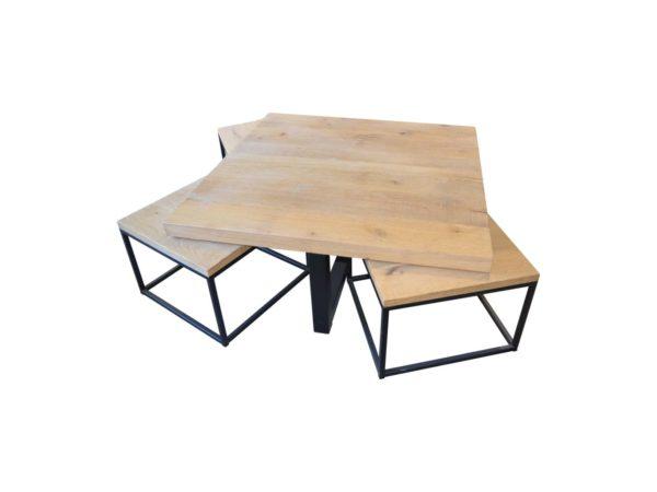 Table basse gigogne avec 5 pièces