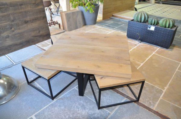 table basse design en bois 5 pièces