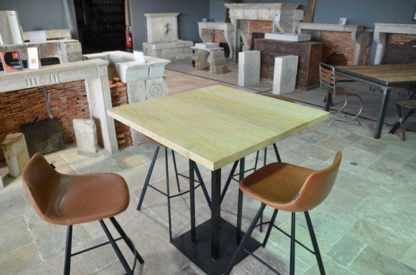 table métal bois pour maison salon
