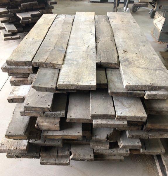 stock de plancher ancien de recuperation