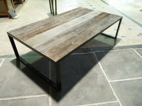 grande table basse vieilli
