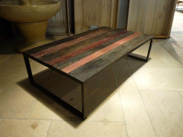 grande table basse en bois style ancien