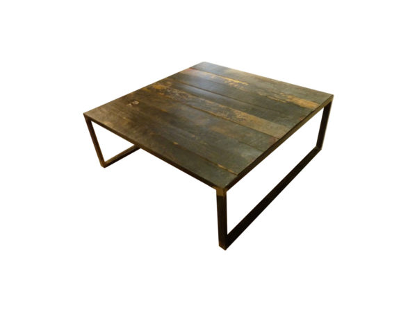 table basse carre en chene