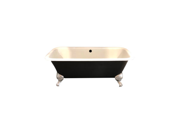 photo baignoire ancienne blanc noir et argent