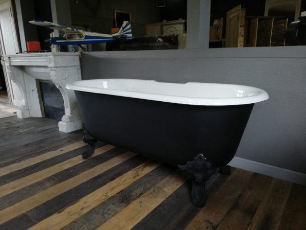 baignoire ancien noir mat style ilot