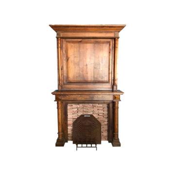 cheminée détouré en bois anciens
