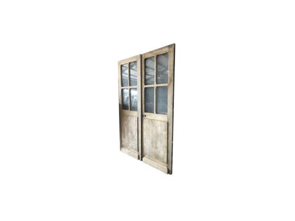 double porte vitré en chêne