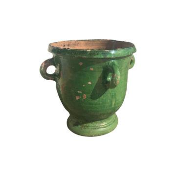 jarre verte en terre cuite ancienne