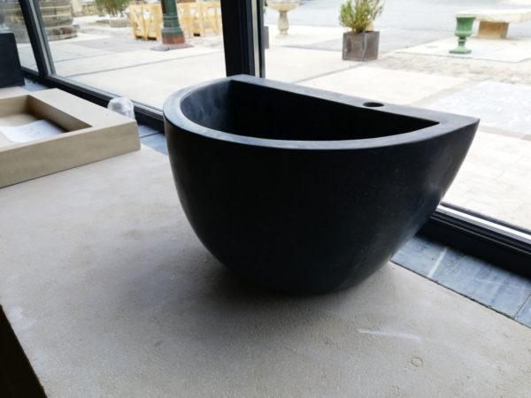 lavabo pour salle de bain en pierre naturelle bleue