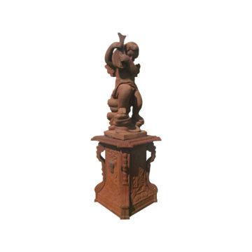 paire de statue angelots en fonte réédition