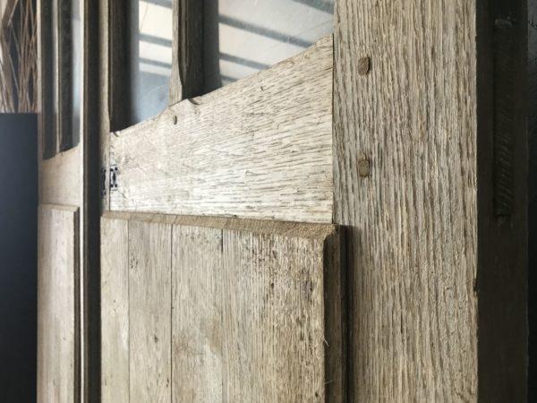 détails de notre double porte ancienne en chêne