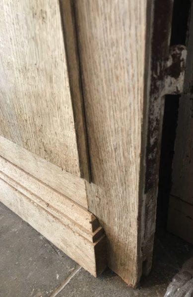 double portes anciennes en vieux chêne
