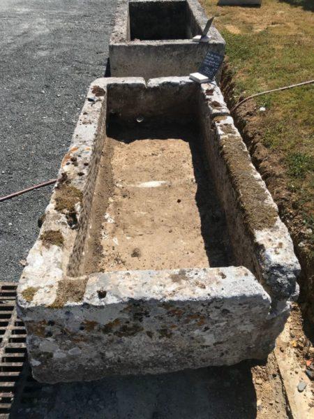 bac pour jardin antique ancien