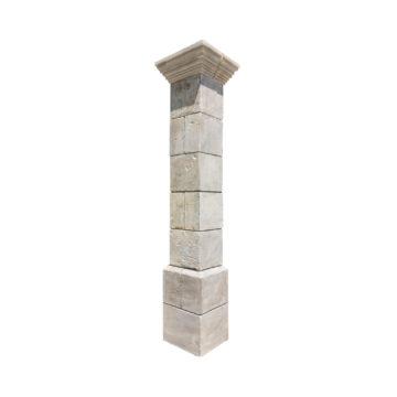 paire de piliers en pierre naturelle calcaire bon état