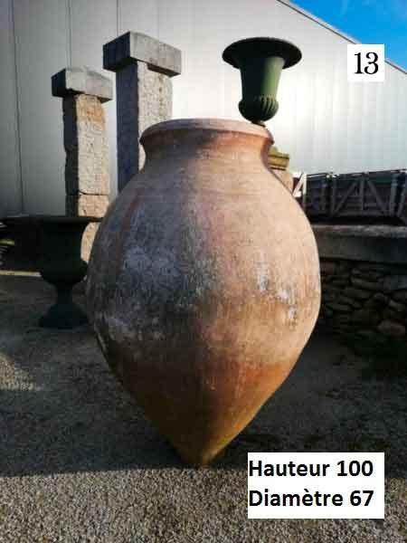 dimensions de la jarre ancienne numero 13