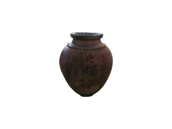 jarre antique en terre cuite brune fo