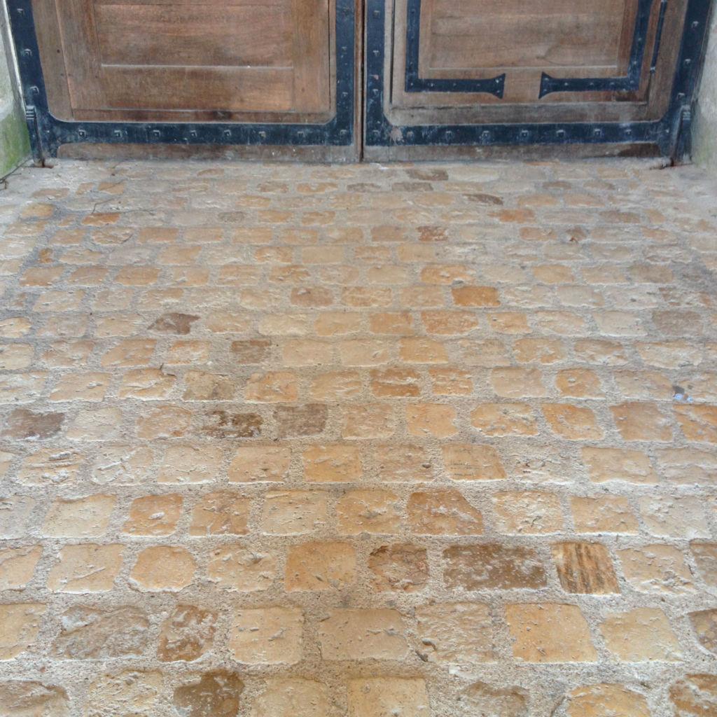 Pavé ancien au château de Chambord